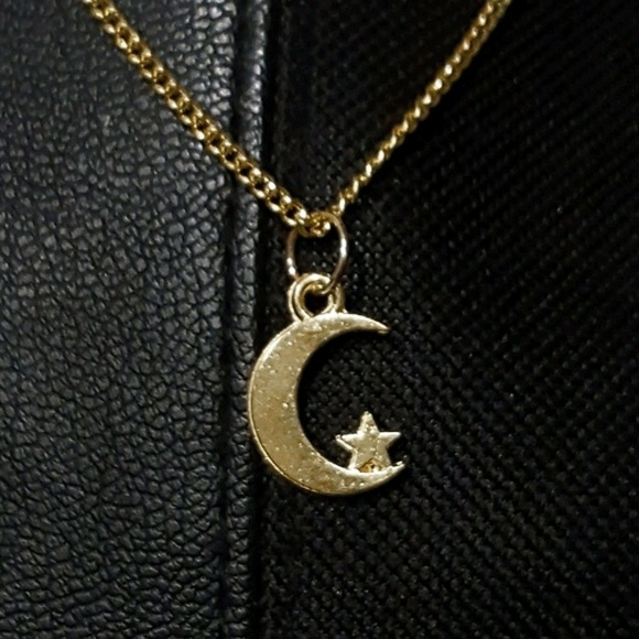 Jewelry dainty gold crescent moon star pendant necklace poshmark dainty gold crescent moon star pendant necklace mozeypictures Choice Image